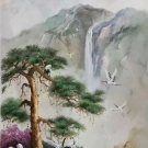 """Hand painted oil painting on canvas""""Creek""""60x120CM(23.6""""x47.2"""")Unframed-743"""