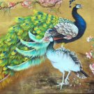 "Simple modern Hand painted oil painting on canvas""Gorgeous peacock""70x180CM(27.6""x70.9"")Unframed-96"