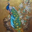 """Hand painted oil painting on canvas""""Gorgeous peacock""""70x100CM(30""""x40"""")Unframed-97"""