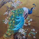 """Hand painted oil painting on canvas""""Gorgeous peacock""""70x100CM(30""""x40"""")Unframed-98"""