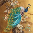 """Hand painted oil painting on canvas""""Gorgeous peacock""""70x100CM(30""""x40"""")Unframed-99"""