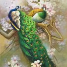 """Simple modern Hand painted oil painting on canvas""""Gorgeous peacock""""80x160CM(33""""x63"""")Unframed-100"""