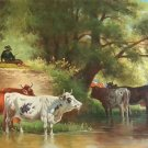 "Hand painted oil painting on canvas""Image of the countryside""70x180CM(27.6""x70.9"")Unframed-204"