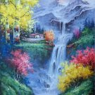"Hand painted oil painting on canvas""Creek""60x90CM(23.6""x35.4"")Unframed-744"
