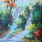 "Hand painted oil painting on canvas""Creek""60x90CM(23.6""x35.4"")Unframed-745"