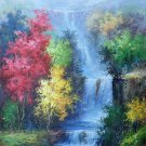 "Hand painted oil painting on canvas""Creek""60x90CM(23.6""x35.4"")Unframed-746"