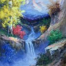 "Hand painted oil painting on canvas""Creek""60x90CM(23.6""x35.4"")Unframed-747"