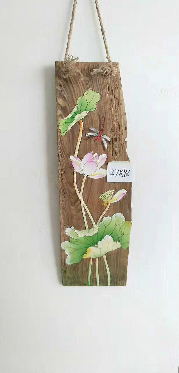 Pure handmade painting on wood-20