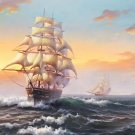 "Hand painted oil painting on canvas""Adventure sailboat""70x180CM(27.6""x70.9"")Unframed-92"