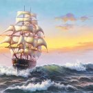 "Hand painted oil painting on canvas""Adventure sailboat""70x180CM(27.6""x70.9"")Unframed-93"