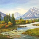 "American style Hand painted oil painting on canvas""Creek""70x180CM(27.6""x70.9"")Unframed-751"