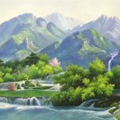 "American style Hand painted oil painting on canvas""Creek""70x180CM(27.6""x70.9"")Unframed-752"