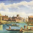 "European style Hand painted oil painting on canvas""Venice""70x180CM(30""x72"")Unframed-45"