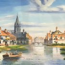 "European style Hand painted oil painting on canvas""Venice""70x180CM(30""x72"")Unframed-46"