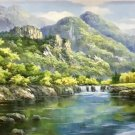 "American style Hand painted oil painting on canvas""Creek""70x180CM(27.6""x70.9"")Unframed-759"