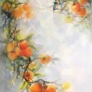 "Simple modern Hand painted oil painting on canvas""peach""60x120CM(24""x48"")Unframed-98"