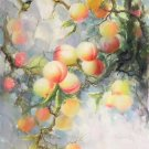 "Simple modern Hand painted oil painting on canvas""peach""60x120CM(24""x48"")Unframed-99"