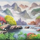 "American style Hand painted oil painting on canvas""Creek""60x160CM(24""x63"")Unframed-761"