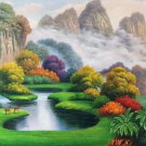 "American style Hand painted oil painting on canvas""Creek""60x160CM(24""x63"")Unframed-762"