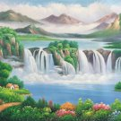 "Hand painted oil painting on canvas""Creek""60x120CM(23.6""x47.2"")Unframed-763"