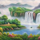"Hand painted oil painting on canvas""Creek""60x120CM(23.6""x47.2"")Unframed-764"