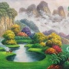 "Hand painted oil painting on canvas""Creek""60x120CM(23.6""x47.2"")Unframed-767"
