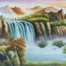 """Hand painted oil painting on canvas""""Creek""""60x120CM(23.6""""x47.2"""")Unframed-768"""