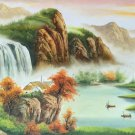"""Hand painted oil painting on canvas""""Creek""""60x120CM(23.6""""x47.2"""")Unframed-769"""