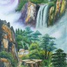 """Hand painted oil painting on canvas""""Creek""""60x120CM(23.6""""x47.2"""")Unframed-770"""