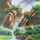 """Hand painted oil painting on canvas""""Creek""""60x120CM(23.6""""x47.2"""")Unframed-772"""