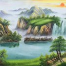 """Hand painted oil painting on canvas""""Creek""""60x120CM(23.6""""x47.2"""")Unframed-774"""