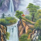 """Hand painted oil painting on canvas""""Creek""""60x120CM(23.6""""x47.2"""")Unframed-775"""