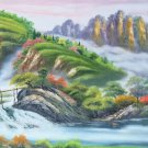 """Hand painted oil painting on canvas""""Creek""""60x120CM(23.6""""x47.2"""")Unframed-777"""