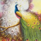 """Simple modern Hand painted oil painting on canvas""""Gorgeous peacock""""60x90CM(23.6""""x35.4"""")Unframed-103"""