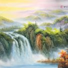 "American style Hand painted oil painting on canvas""Creek""70x180CM(27.6""x70.9"")Unframed-782"