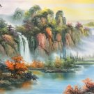 "American style Hand painted oil painting on canvas""Creek""70x180CM(27.6""x70.9"")Unframed-786"
