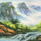 "American style Hand painted oil painting on canvas""Creek""70x180CM(27.6""x70.9"")Unframed-787"