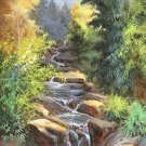 "Hand painted oil painting on canvas""Creek""60x120CM(23.6""x47.2"")Unframed-788"