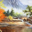 "Hand painted oil painting on canvas""Creek""60x120CM(23.6""x47.2"")Unframed-789"