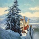 "Hand painted oil painting on canvas""castle""60x90CM(23.6""x35.4"")Unframed-792"