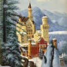 "Hand painted oil painting on canvas""castle""60x90CM(23.6""x35.4"")Unframed-795"