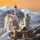 "Hand painted oil painting on canvas""castle""60x90CM(23.6""x35.4"")Unframed-797"