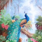 "Simple modern Hand painted oil painting on canvas""Gorgeous peacock""80x160CM(33""x63"")Unframed-112"
