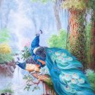 "Simple modern Hand painted oil painting on canvas""Gorgeous peacock""80x160CM(33""x63"")Unframed-114"