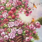 "Hand painted oil painting on canvas""Peach blossom""60x120CM(24""x48"")Unframed-154"