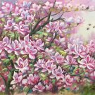 "Hand painted oil painting on canvas""Peach blossom""60x120CM(24""x48"")Unframed-155"