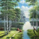 "Nordic style Hand painted oil painting on canvas""forest""60x90CM(23.6""x35.4"")Unframed-67"