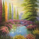 """Hand painted oil painting on canvas""""Image of the countryside""""50x60CM(19.7""""x23.6"""")Unframed-232"""