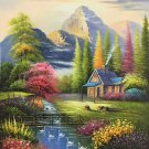 """Hand painted oil painting on canvas""""Image of the countryside""""50x60CM(19.7""""x23.6"""")Unframed-233"""
