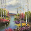 """Hand painted oil painting on canvas""""Image of the countryside""""50x60CM(19.7""""x23.6"""")Unframed-234"""
